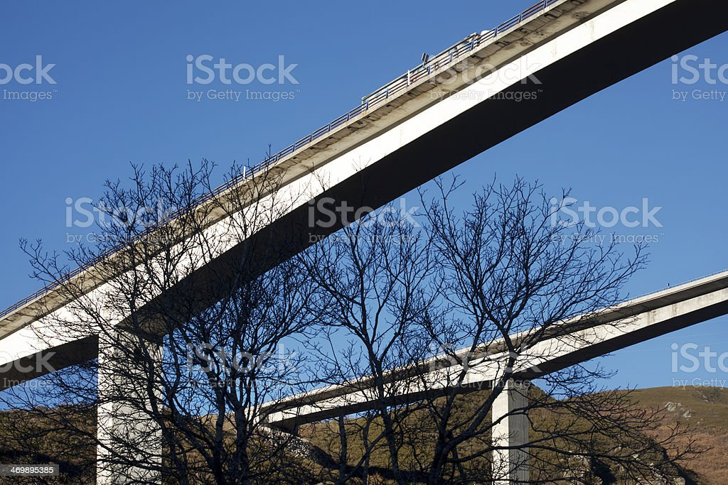 Viaducts from below royalty-free stock photo