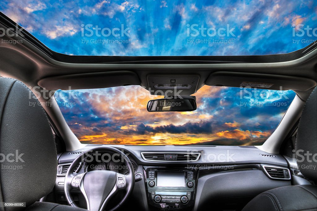 viajar en coche stock photo