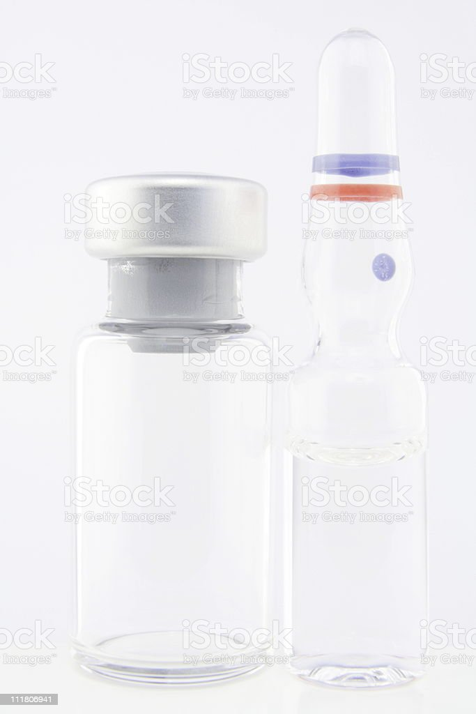 vial and ampoule royalty-free stock photo