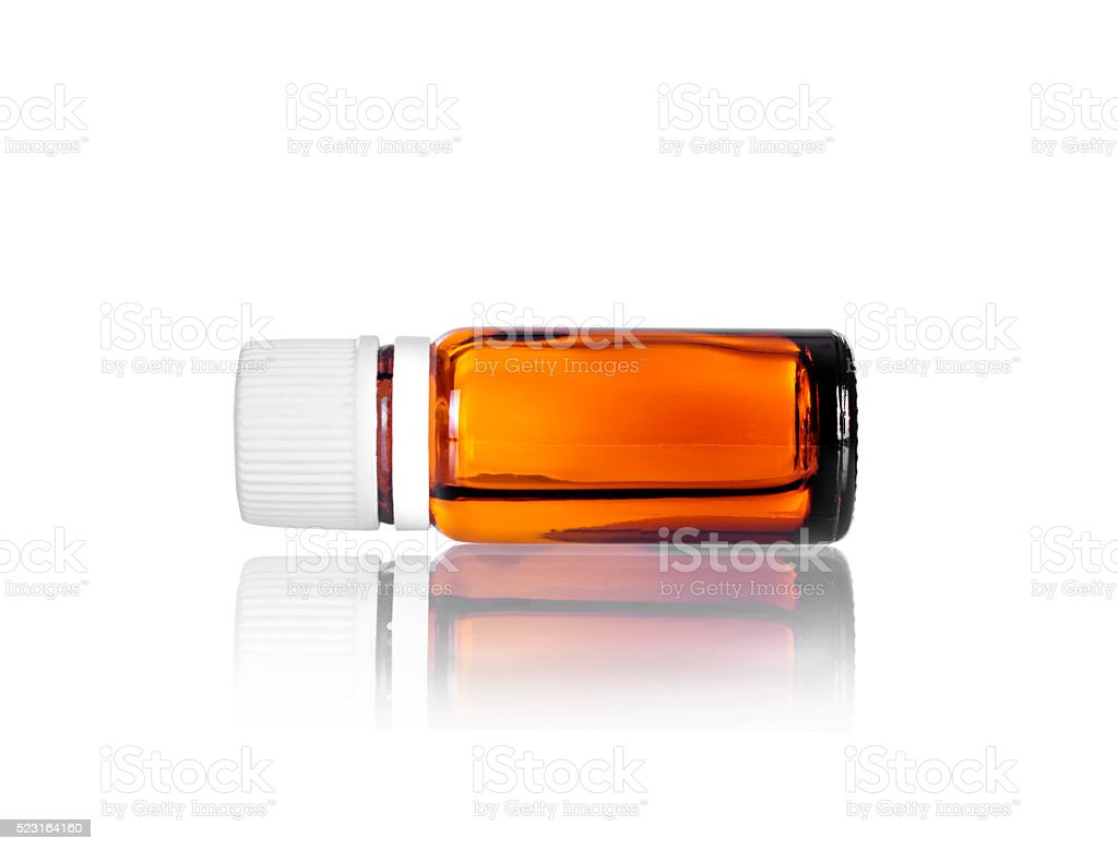 vial flask isolated on white background stock photo