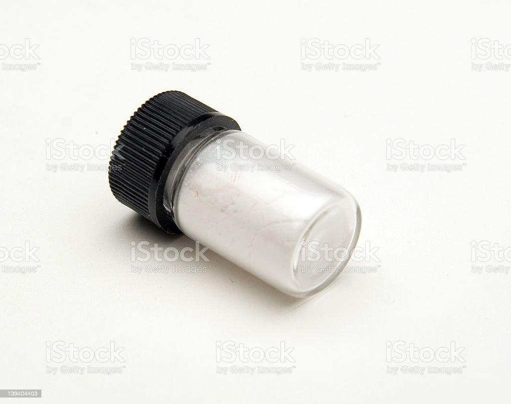 vial of white powder royalty-free stock photo