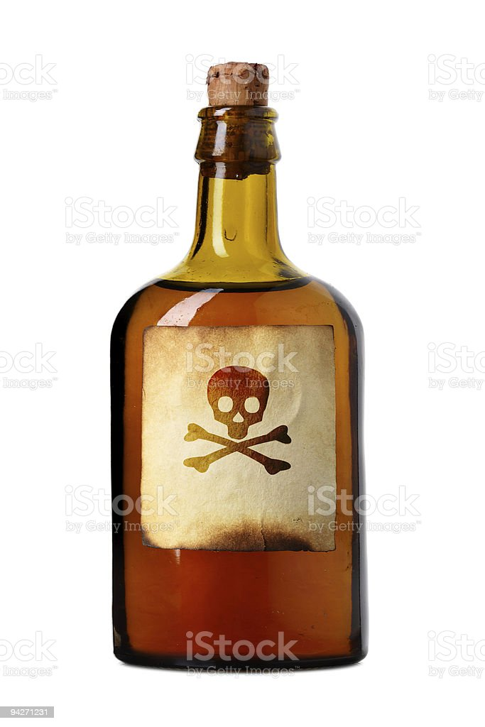 Vial with poison stock photo