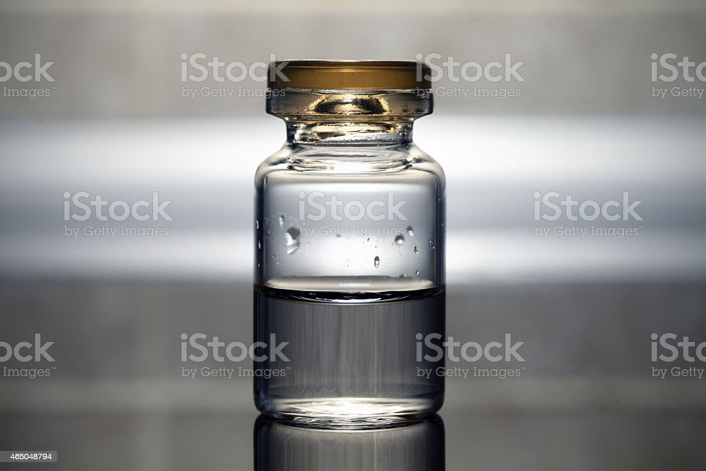 vial with the medicine. Medical concept. stock photo