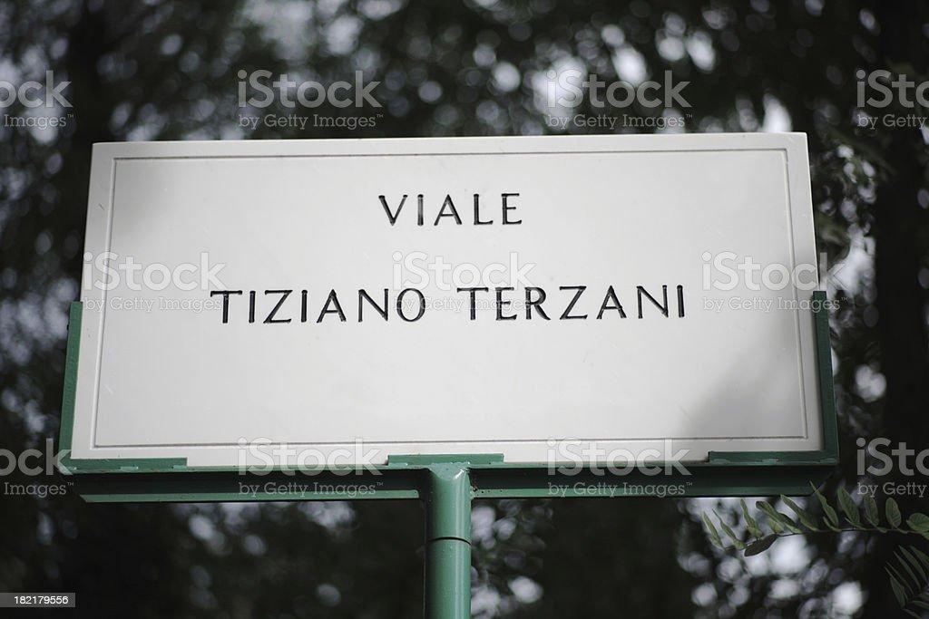 Viale Tiziano Terzani in Rome royalty-free stock photo
