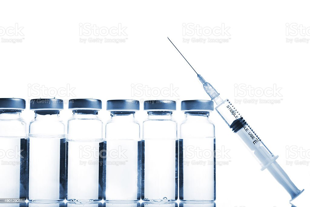 Vials and Syringe stock photo