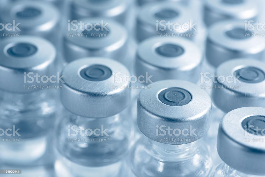 Vials of medicine or vaccine stock photo