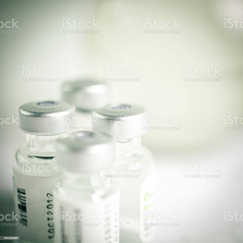 vials of medicine stock photo