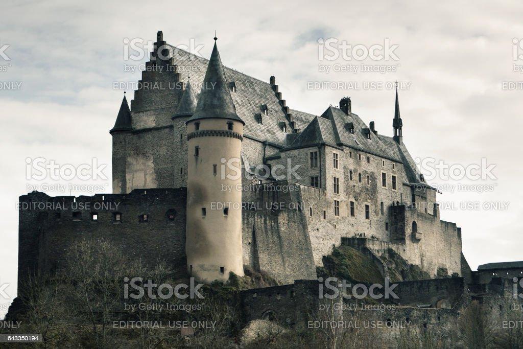 Vianden Castle, Luxembourg. stock photo