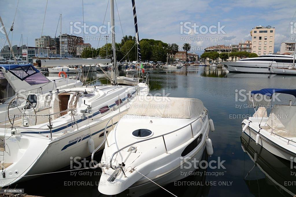 Viareggio shipyard, Tuscany, Italy stock photo