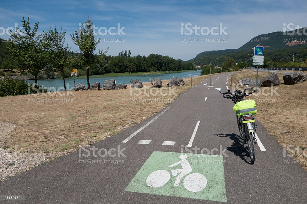 ViaRhona bike route stock photo