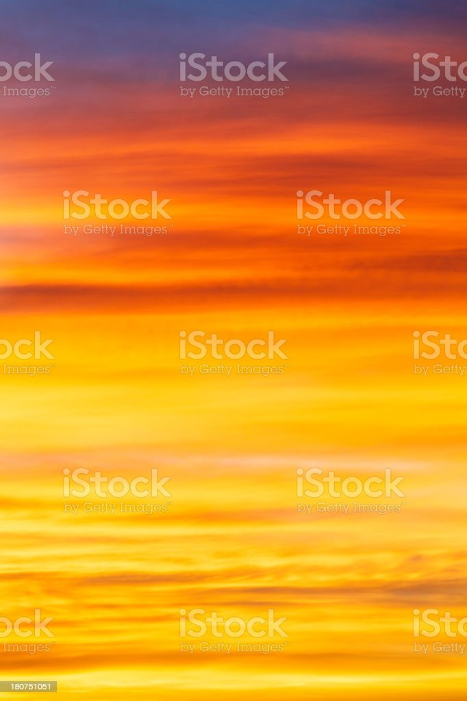 Vibrant and vivid colorful sky background stock photo