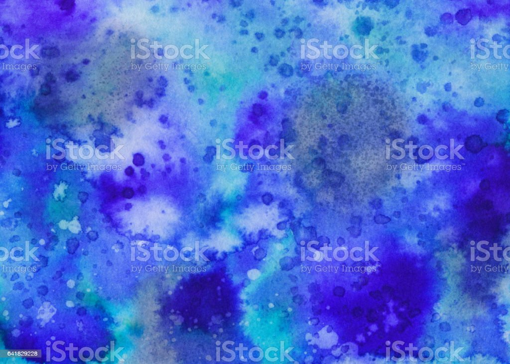 Vibrant blue hand painted background vector art illustration
