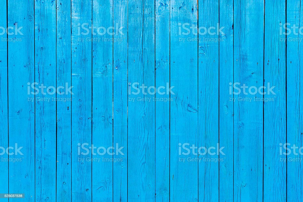 Vibrant Blue Painted Wooden background stock photo
