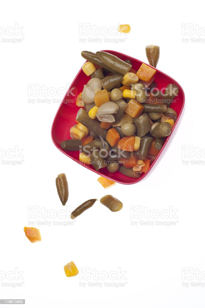 Vibrant Bowl of Mixed Vegetables stock photo
