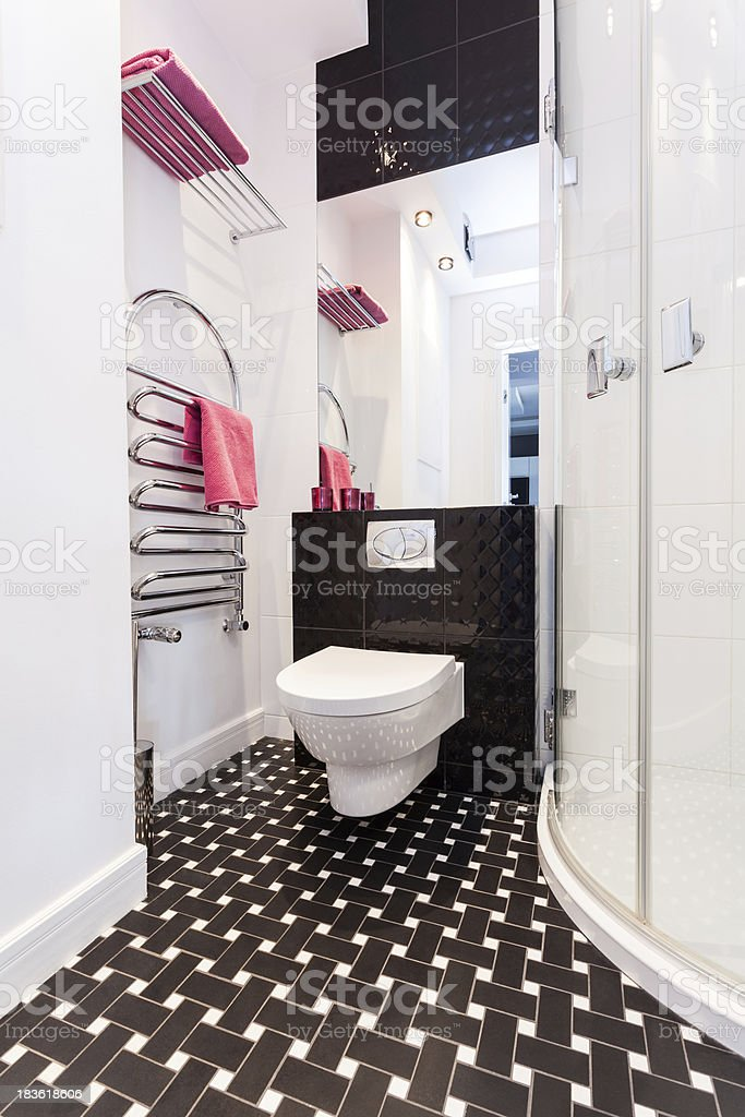 Vibrant cottage - Bathroom with toilet royalty-free stock photo