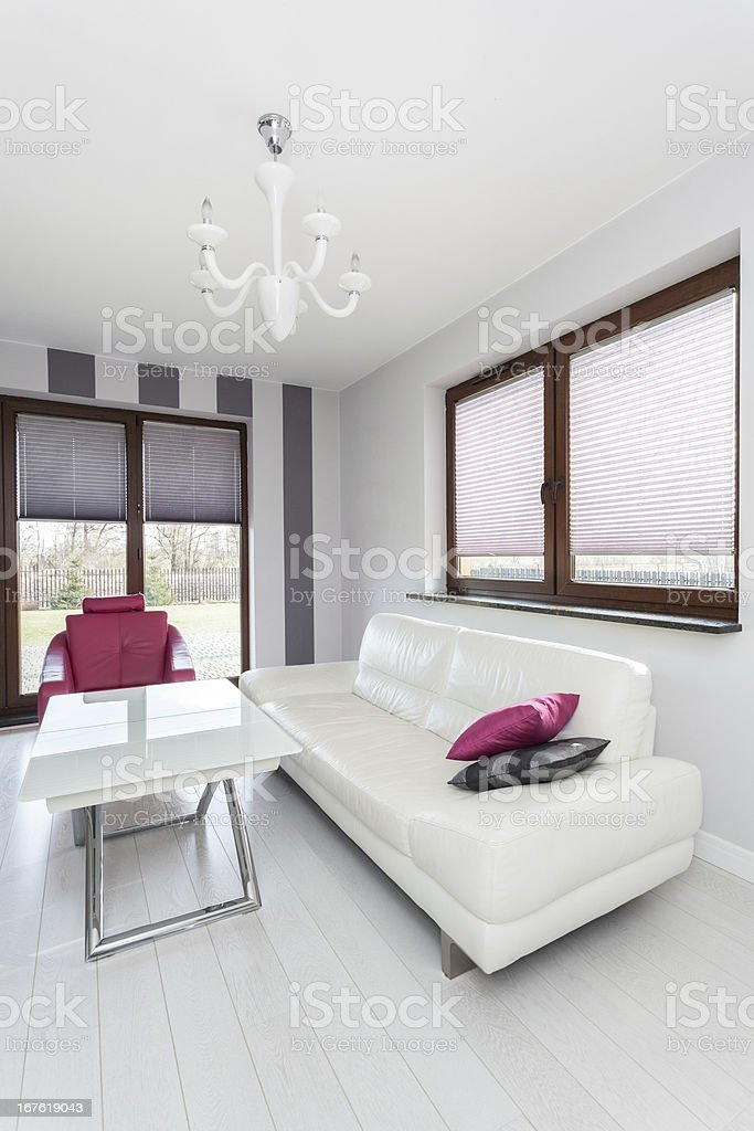 Vibrant cottage - spacious living room royalty-free stock photo