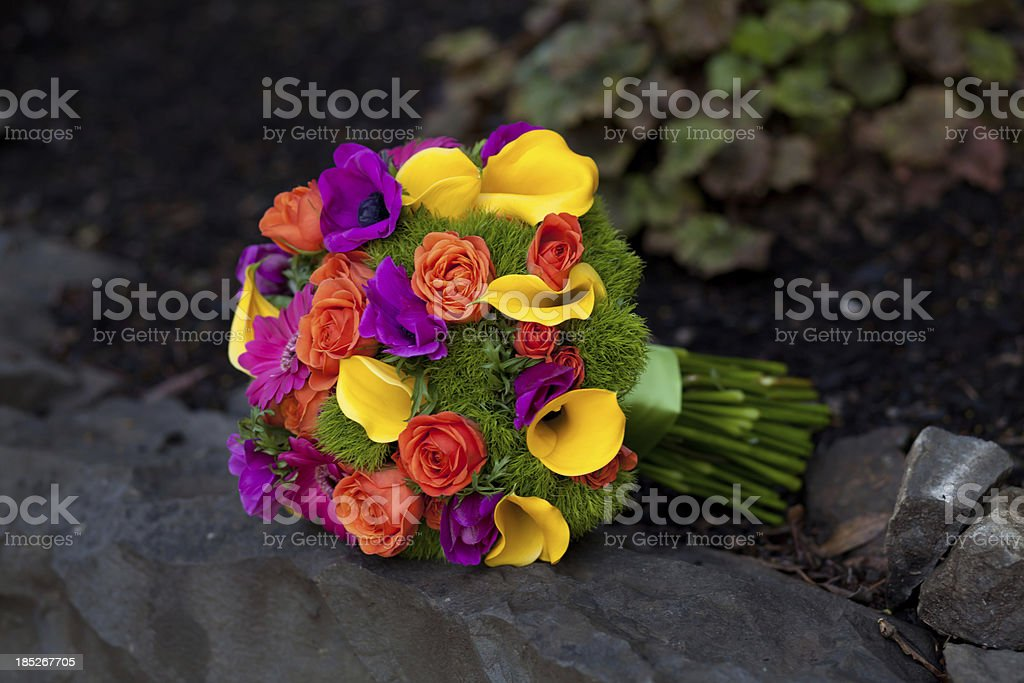 Vibrant flower bouquet royalty-free stock photo