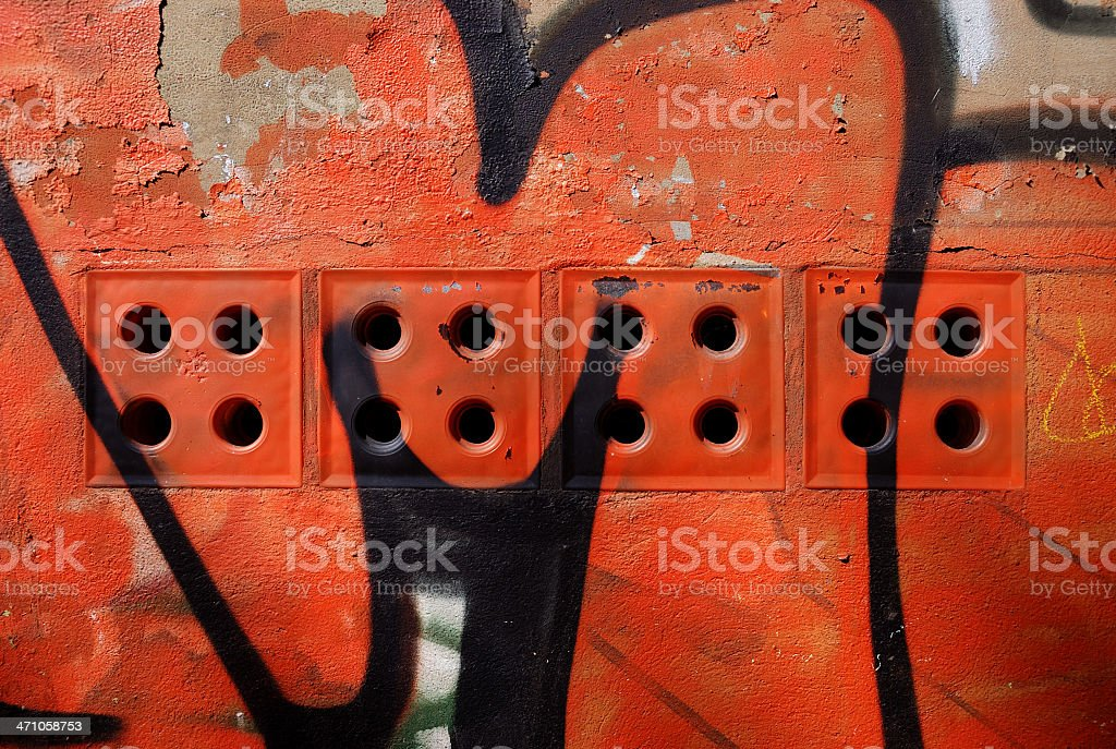 vibrant graffiti royalty-free stock photo