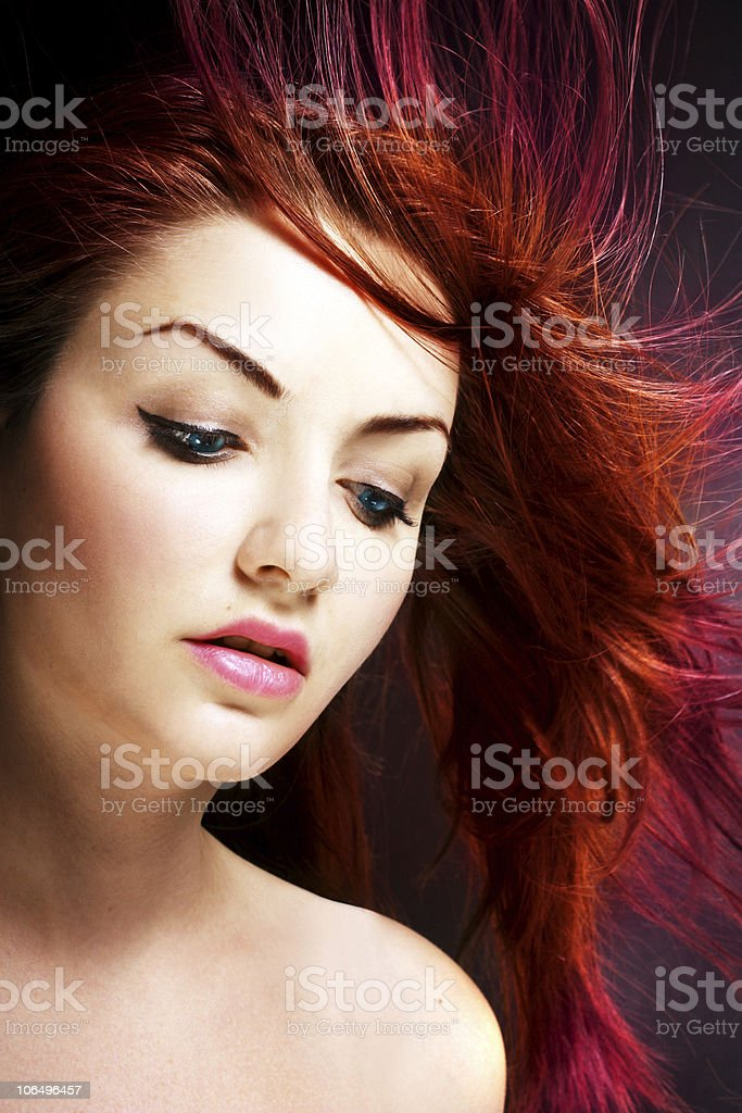 Vibrant hair royalty-free stock photo