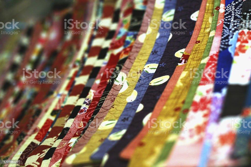 Vibrant Japanese Cloth royalty-free stock photo