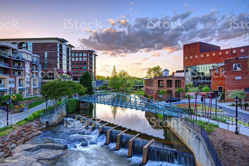 A vibrant picture of Greenville, South Carolina stock photo