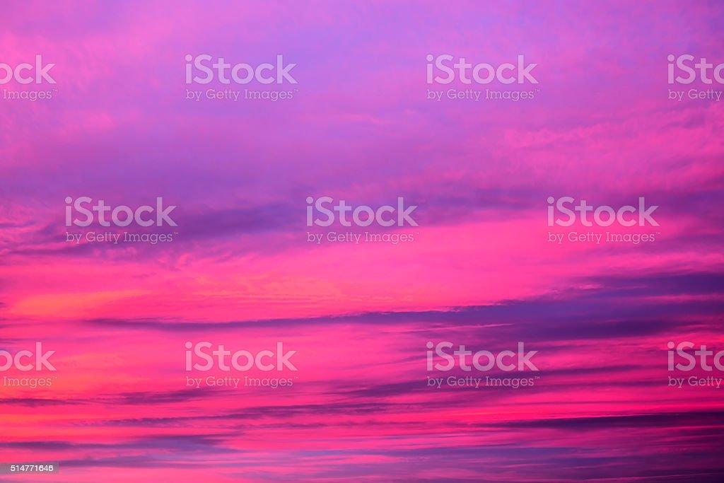 Vibrant purple sunset stock photo