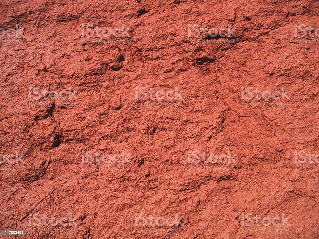 Vibrant red dirt textured background royalty-free stock photo