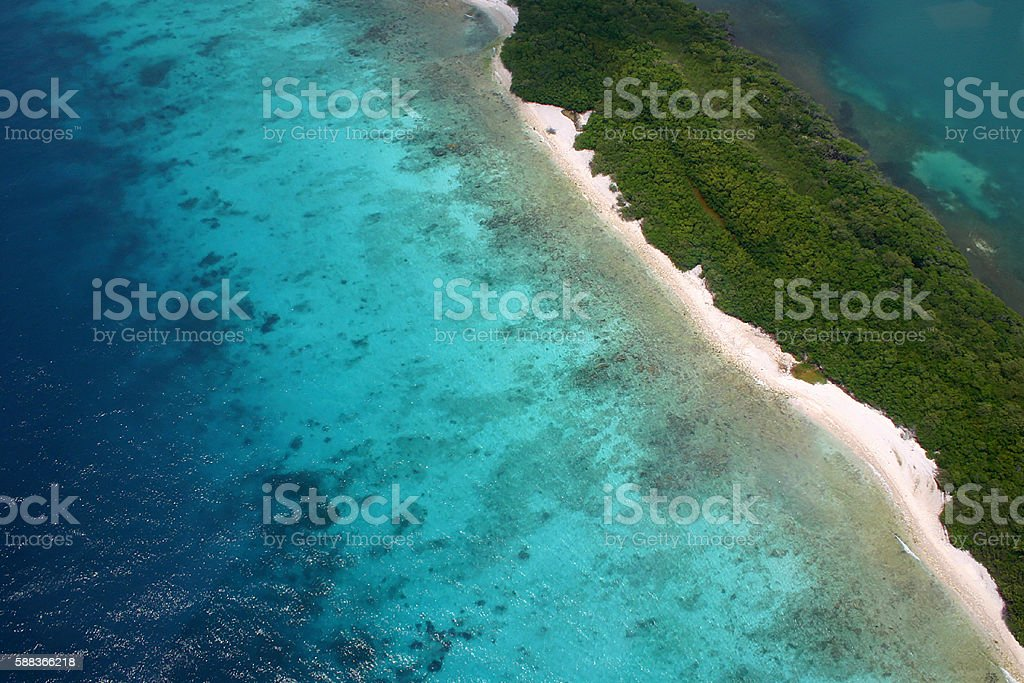 Vibrant Sea, Aruba stock photo