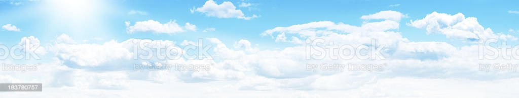XXXL Vibrant Sky Panorama royalty-free stock photo