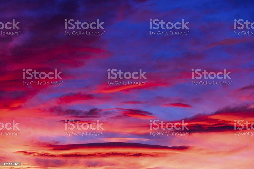 Vivace il cielo foto stock royalty-free