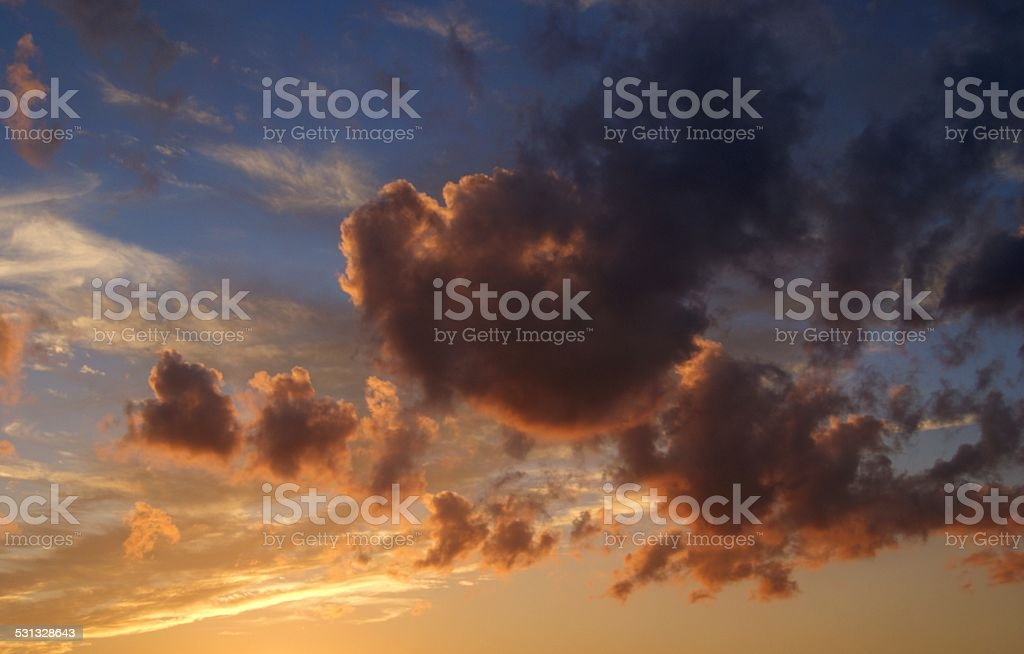Vibrant Smokey Cloud royalty-free stock photo