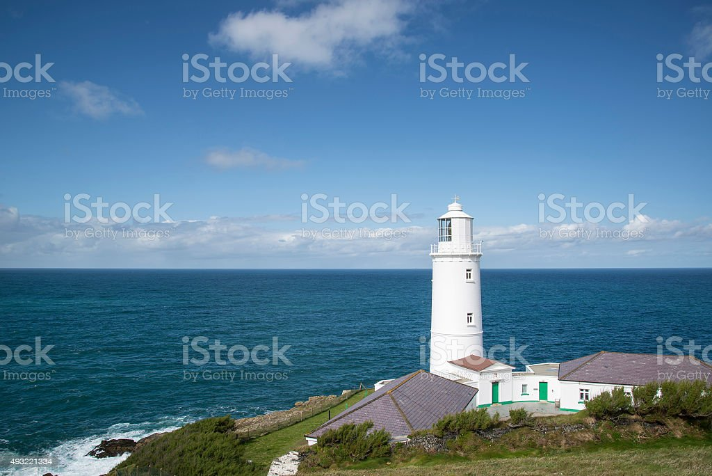 Vibrant Summer landscape image of Trevose head in Cornwall Engla stock photo
