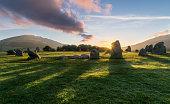 Vibrant Sunrise Castlerigg Stone Circle.