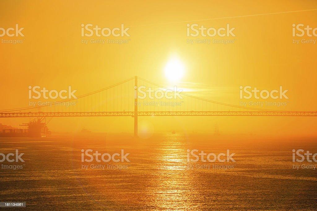 vibrant sunrise/sunset over river royalty-free stock photo