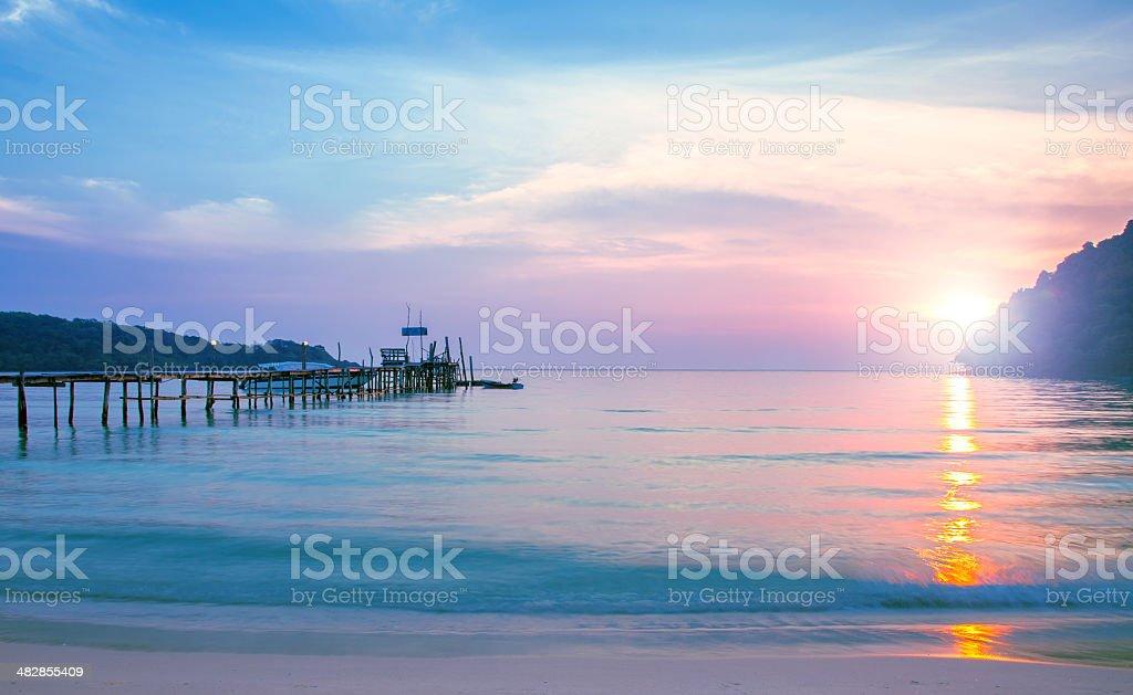 Vibrant sunset royalty-free stock photo