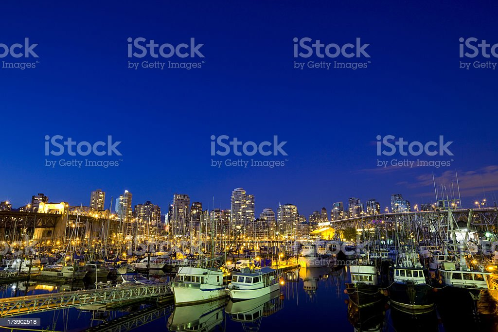 Vibrant Vancouver Harbor royalty-free stock photo