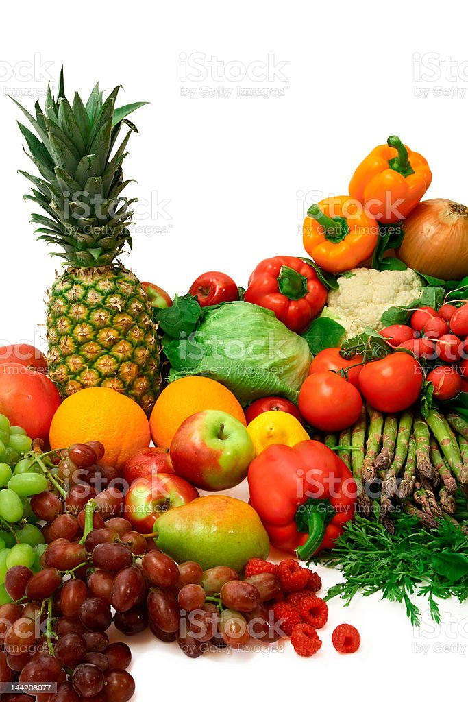 Vibrant Vegetables and Fruits royalty-free stock photo