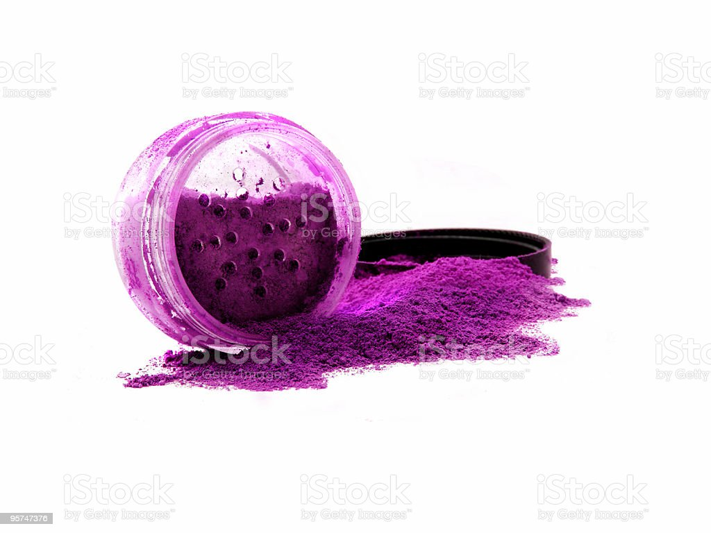 Vibrant violet mineral make-up royalty-free stock photo