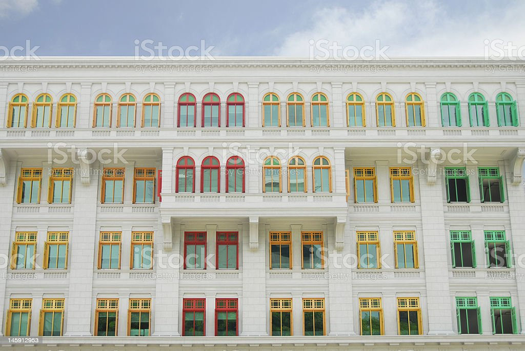 Vibrantly Colored Arts House royalty-free stock photo