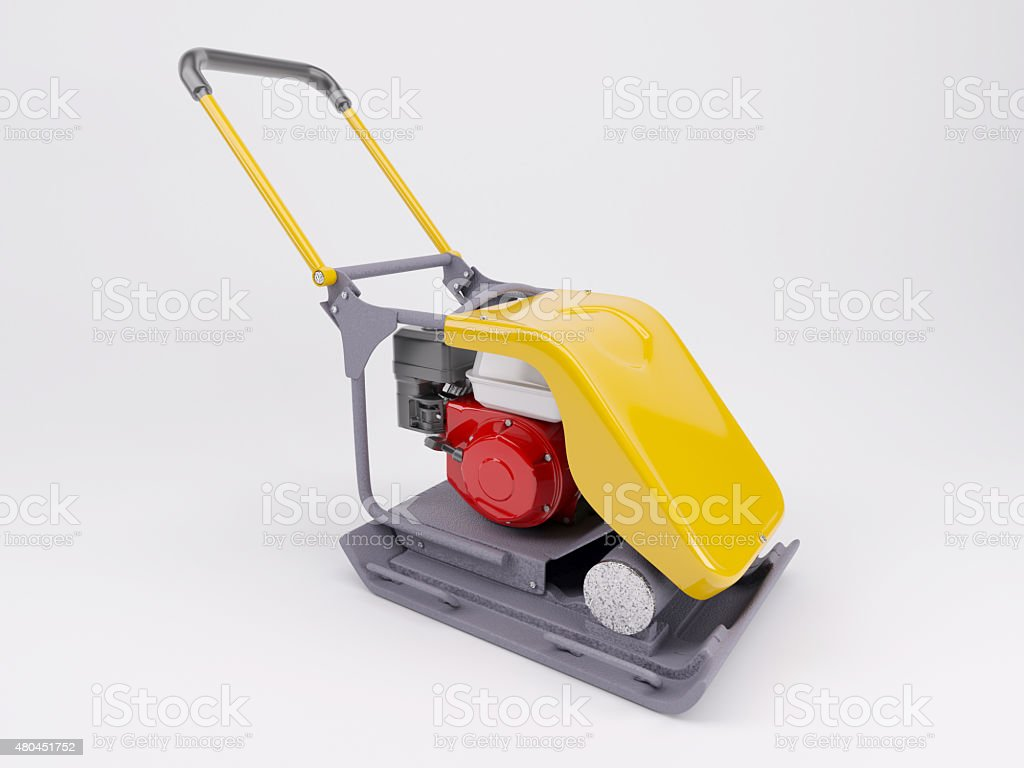 vibratory plate compactor stock photo