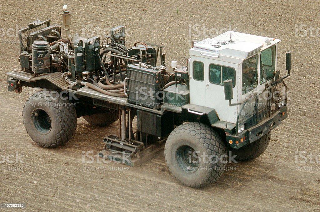 Vibroseis Truck Vibrating royalty-free stock photo