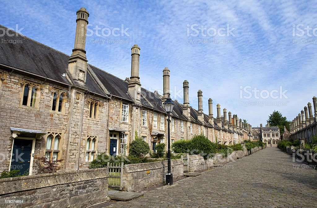 Vicars' Close in Wells stock photo