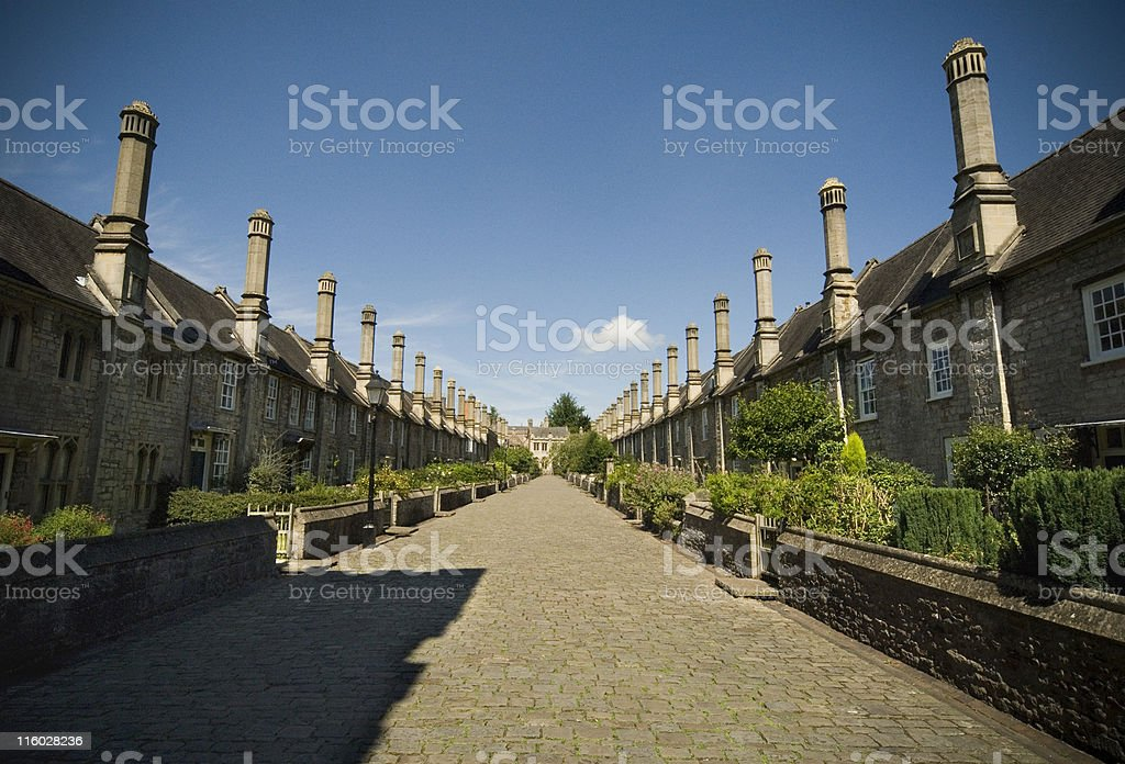Vicars Close, Wells stock photo