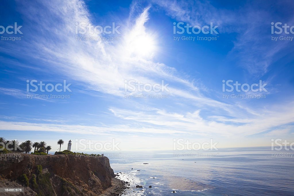 Vicente Lighthouse Palos Verdes stock photo