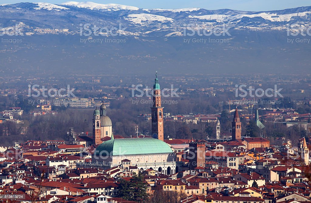 Vicenza, Italy, Panorama of the city stock photo