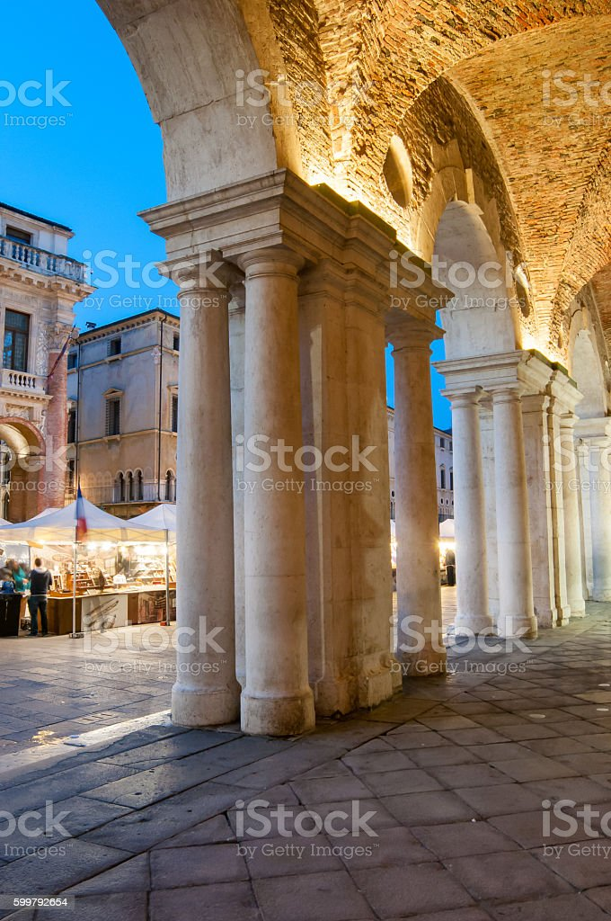 Vicenza landmarks stock photo