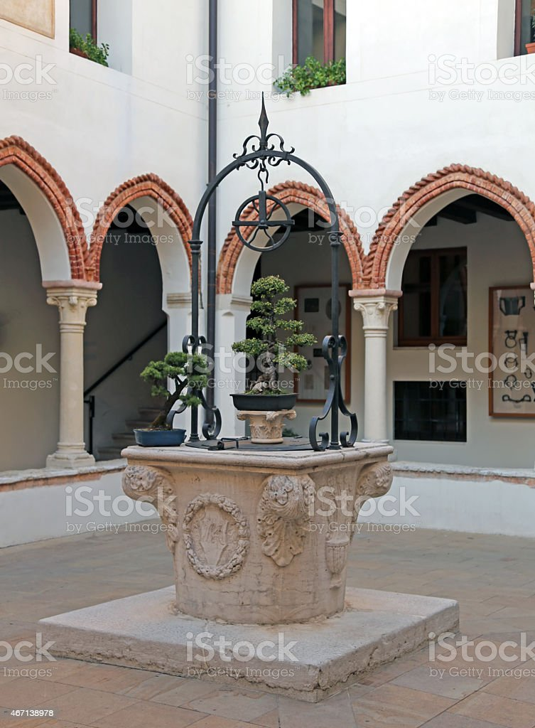 Vicenza old well in the sanctuary of the Madonna stock photo