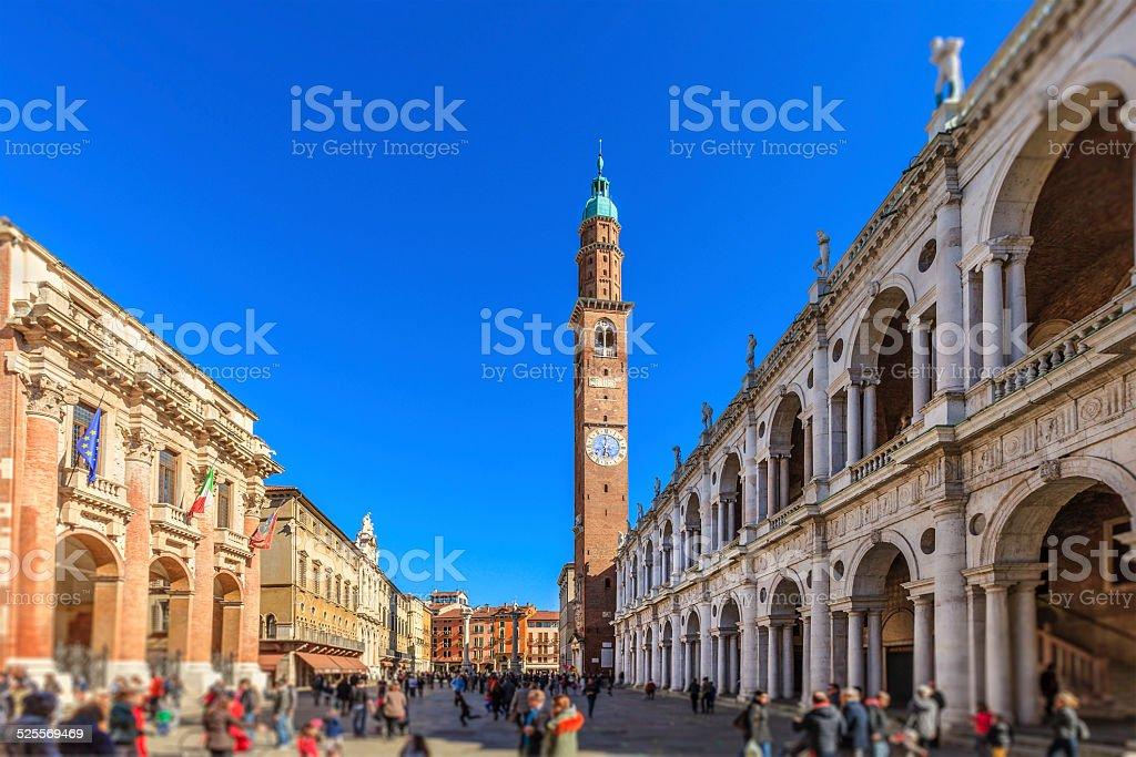 Vicenza, Piazza dei Signori, Italy stock photo
