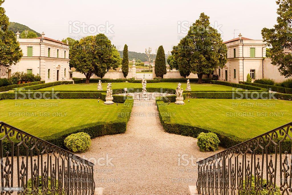 Vicenza, Veneto, Italy - Villa Cordellina Lombardi. stock photo