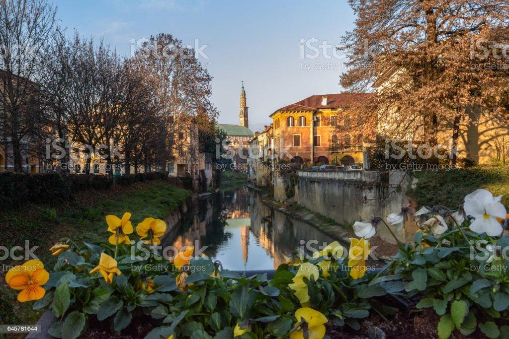 Vicenza,fiume Bacchiglione stock photo